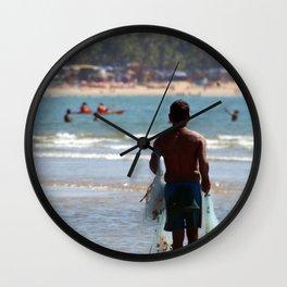 Fisherman Carrying Nets Palolem Wall Clock