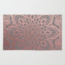 Rose Gold Mandala Rug