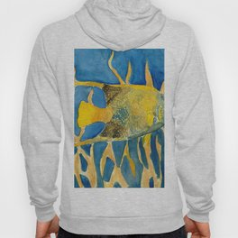 tropical fish square painting Hoody