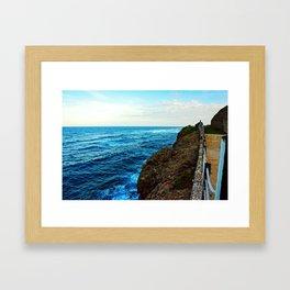 Pathway Along the Coast Framed Art Print