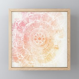 Pink pretty mandala Framed Mini Art Print