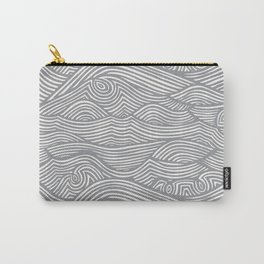 Waves in Charcoal Carry-All Pouch