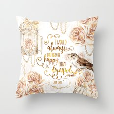 Jane Eyre - Dignified Throw Pillow