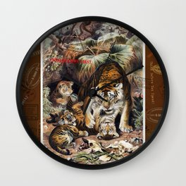 Tigers for Responsible Travel Wall Clock
