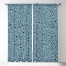 Tossed daisies- country cottage blue collection Blackout Curtain