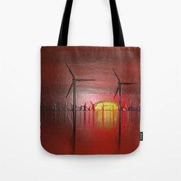 Windmills in the Sun (Digital Art) Tote Bag