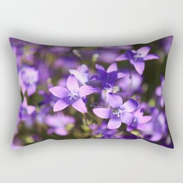 Blooming Spreading bellflowers in the field Rectangular Pillow