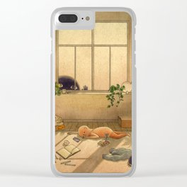 Afternoon Slump Clear iPhone Case