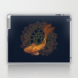 Swimming Koi - Gold Laptop & iPad Skin