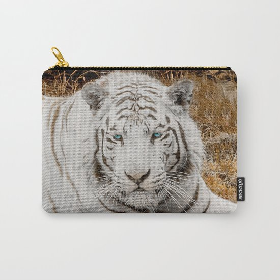 WHITE TIGER GAZE Carry-All Pouch