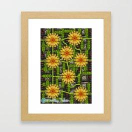 Dandelion Garden Framed Art Print