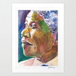 Mandela Abstract Art Print
