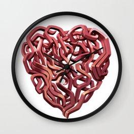 Graffiti Heart Red Wall Clock
