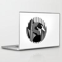 black swan Laptop & iPad Skins featuring black swan by Gray