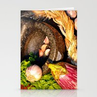 vegetables Stationery Cards featuring vegetables by  Agostino Lo Coco
