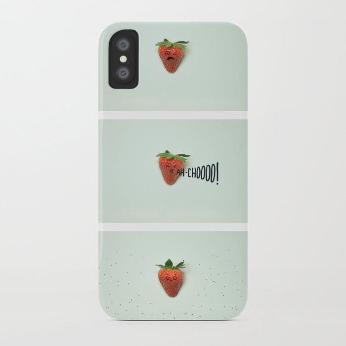 Strawberry Sneeze iPhone Case