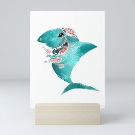 Laser Shark Mini Art Print