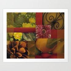 Flowers & Fruit Art Print