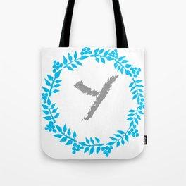 Y White Tote Bag