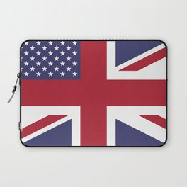 United States and The United Kingdom Flags United Forever Laptop Sleeve