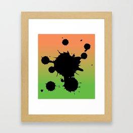 Mango splatter Framed Art Print