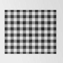 Gingham (Black/White) Throw Blanket