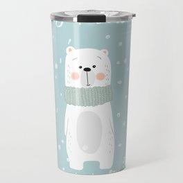 Cute Polar Bear Mint Travel Mug