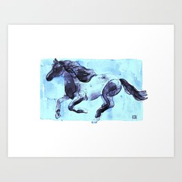 Running Horse 1 Art Print