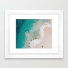 Swirling Tides Framed Art Print