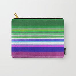 Pink Green Stripish Carry-All Pouch