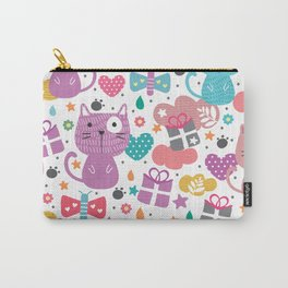 Cute Cats with Abstract Background Carry-All Pouch