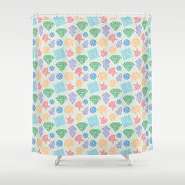 Broken Shapes Shower Curtain