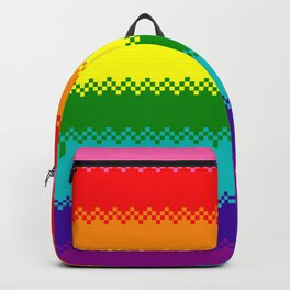 pixel pride- Gilbert Baker gay pride flag Backpack