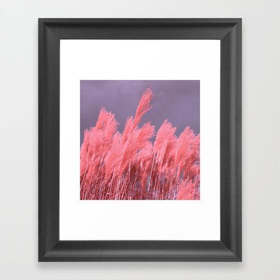pastel grass Framed Art Print