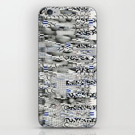 Winding Up Mechanical (P/D3 Glitch Collage Studies) iPhone Skin