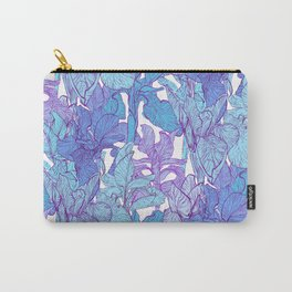 Blue graphic iris Carry-All Pouch