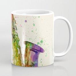 Saxophone Abstract Watercolor Coffee Mug
