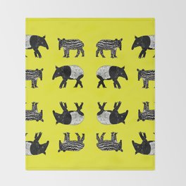 Dance of the Tapirs Throw Blanket