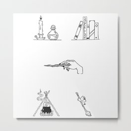 Witch Halloween Themed Design Metal Print