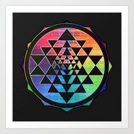 Maverick Rainbow Sri Yantra Art Print