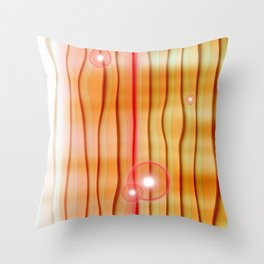Abstract orange Collage Throw Pillow