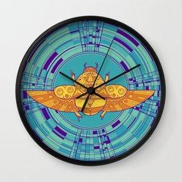 Sacred scarab  Wall Clock