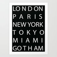 gotham Art Prints featuring Gotham by creativecam