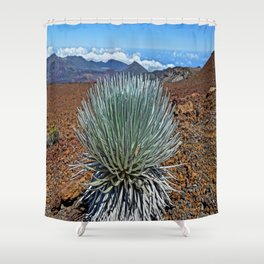 Silversword  Shower Curtain