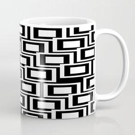 Black and White Squares Pattern 02 Coffee Mug