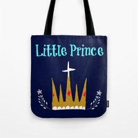 the little prince Tote Bags featuring Little Prince by My Little Thought Bubbles
