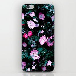 Emerald Green And Rose Blush Floral iPhone Skin