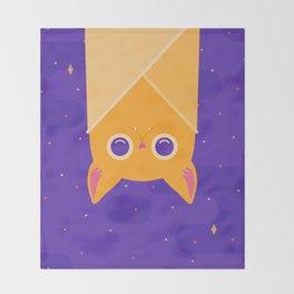 Golden Bat Throw Blanket