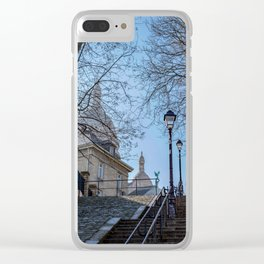 Montmartre staircase in Paris, France Clear iPhone Case