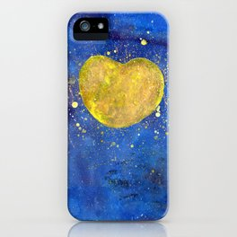 Heart shape Full Moon in the Universe iPhone Case